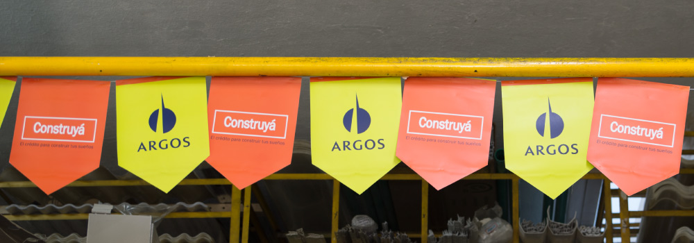 Construyá, Financiamiento de materiales con Argos